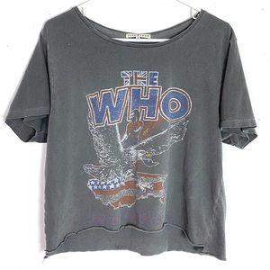 Junk Food The Who Faded Cut Off Band Tshirt Medium